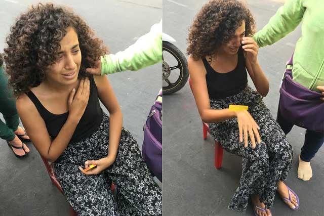 Du khách nước ngoài khóc nức nở khi bị cướp giữa TPHCM - 1