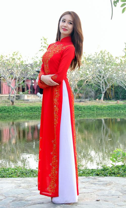 T-ara đẹp hút hồn khi diện áo dài ở Việt Nam - 3