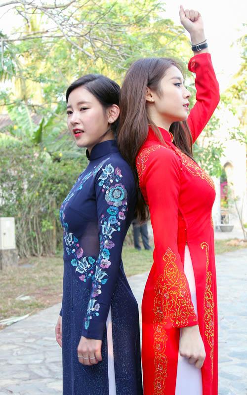T-ara đẹp hút hồn khi diện áo dài ở Việt Nam - 4
