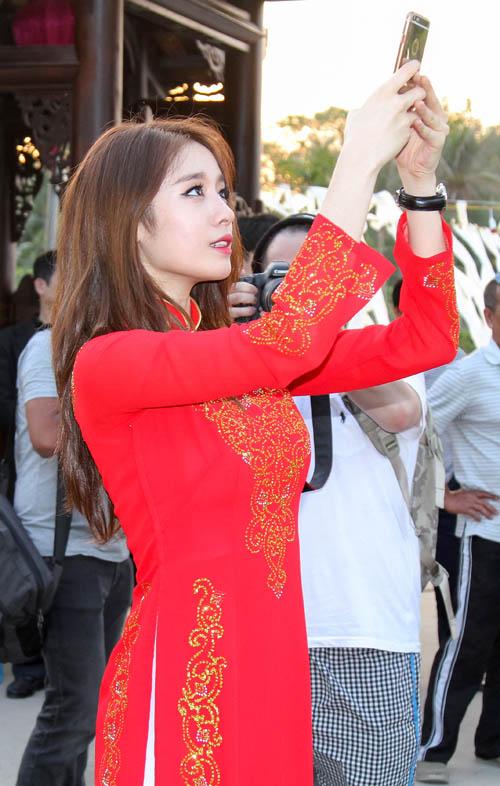 T-ara đẹp hút hồn khi diện áo dài ở Việt Nam - 5