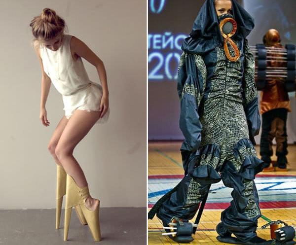 """Những mẫu váy áo """"doạ người"""" ít ai dám liều mặc - 1"""
