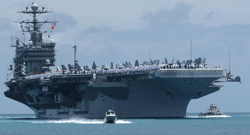 Mỹ điều siêu tàu sân bay tới Hàn Quốc tập trận - 1