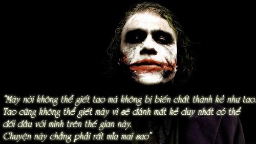 """11 câu thoại kinh điển của kẻ xấu Joker trong """"Người dơi"""" - 1"""