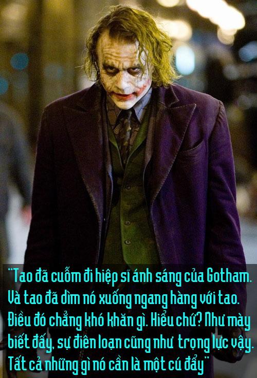 """11 câu thoại kinh điển của kẻ xấu Joker trong """"Người dơi"""" - 6"""