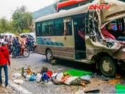 Camera hành trình - Xe khách tông xe tải trên đèo, 6 người thương vong
