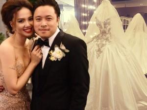 Phim - Cận cảnh váy cưới nặng 20kg của Đinh Ngọc Diệp