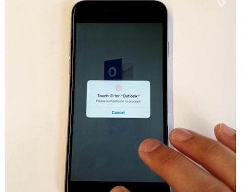 Outlook trên iPhone hỗ trợ bảo mật bằng dấu vân tay - 1