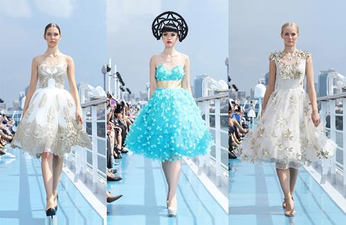 Jessica Minh Anh khoe thời trang tóc kỳ dị ở Australia - 8