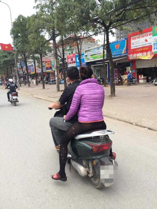 """Sốc với thời trang """"chào đông đón hè"""" trên phố Hà Nội - 1"""
