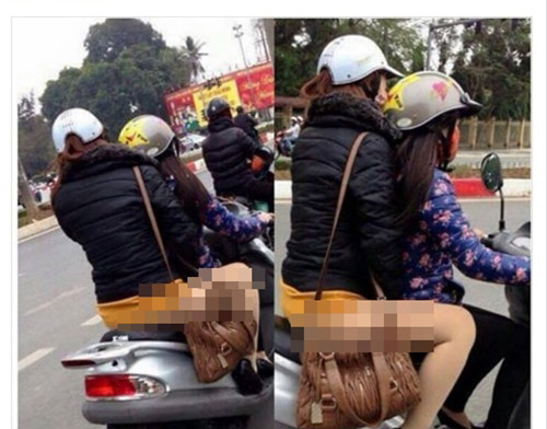 """Sốc với thời trang """"chào đông đón hè"""" trên phố Hà Nội - 3"""
