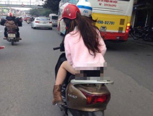 """Sốc với thời trang """"chào đông đón hè"""" trên phố Hà Nội - 4"""