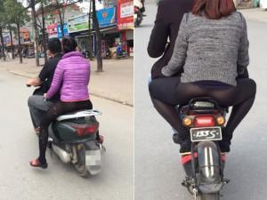 """Bạn trẻ - Cuộc sống - Sốc với thời trang """"chào đông đón hè"""" trên phố Hà Nội"""