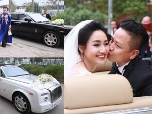 Thời trang - Dàn xe siêu sang tháp tùng á hậu Trà My về nhà chồng