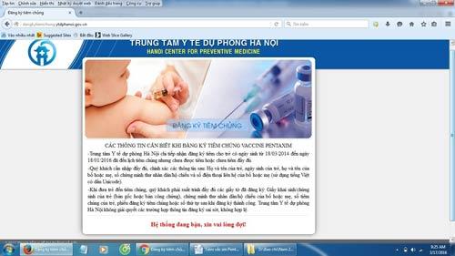 Đăng kí tiêm vắc xin Pentaxim: Lại điệp khúc nghẽn mạng - 2