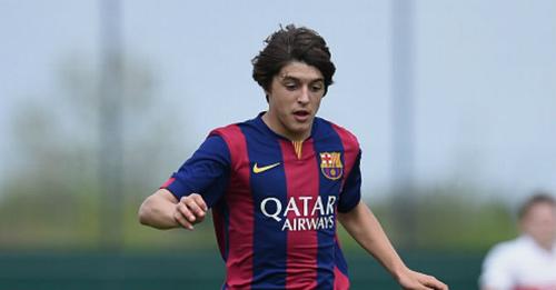 Đàn em lò Barca solo qua 5 người ghi bàn hệt Messi - 1