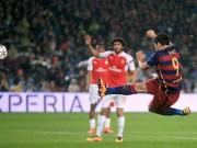 Bóng đá - SAO trẻ Arsenal đọ tuyệt tác với Messi, Suarez