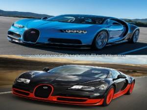 So sánh Bugatti Veyron và Bugatti Chiron qua ảnh