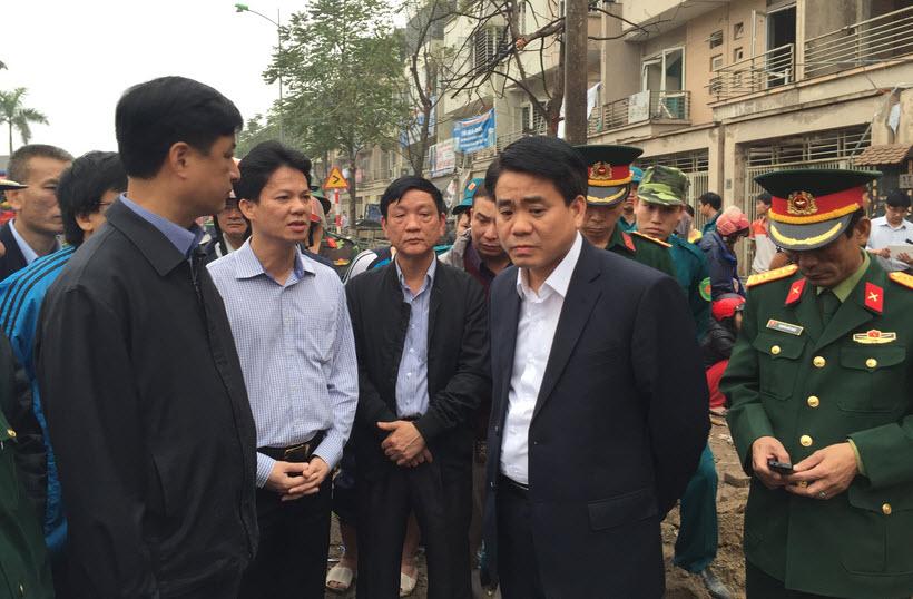 Chủ tịch HN yêu cầu nhanh chóng điều tra nguyên nhân vụ nổ ở Văn Phú - 1