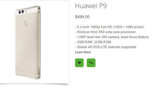 Lộ giá và cấu hình Huawei P9, P9 Max và P9 Lite - 2