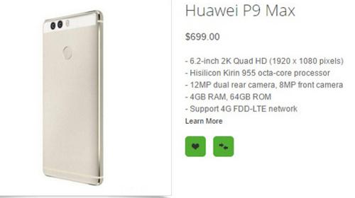 Lộ giá và cấu hình Huawei P9, P9 Max và P9 Lite - 3