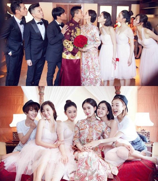 Những hình ảnh đẹp nhất trong đám cưới Lưu Thi Thi - 4