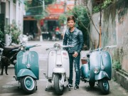 Ô tô - Xe máy - Gặp người sở hữu nhiều Vespa cổ nhất Thái Bình
