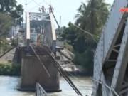 Video An ninh - Truy bắt 2 đối tượng lái sà lan tông sập Cầu Ghềnh