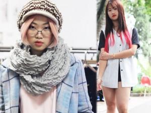 Tín đồ thời trang Hà Nội cá tính với tóc nhuộm rực rỡ