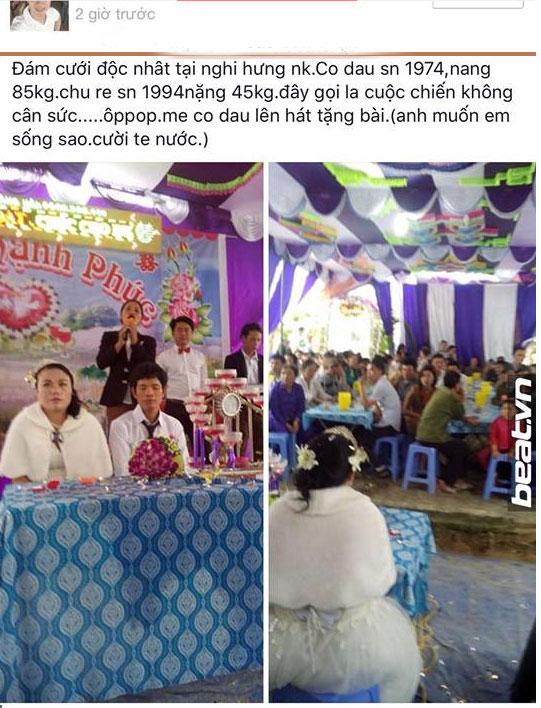 Đám cưới siêu hot: cô dâu 85kg, chú rể 45kg - 1