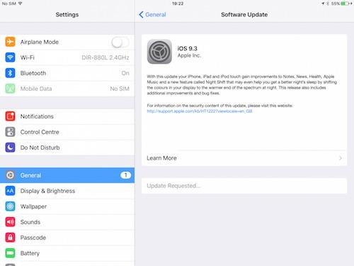 Apple phát hành iOS 9.3 cho iPhone 4S trở lên - 1