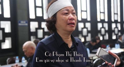 Em vợ nhạc sĩ Thanh Tùng khóc nấc khi nói về anh rể - 1