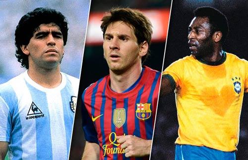 Messi đọ huyền thoại: Hơn Maradona, vẫn kém Pele (P1) - 1