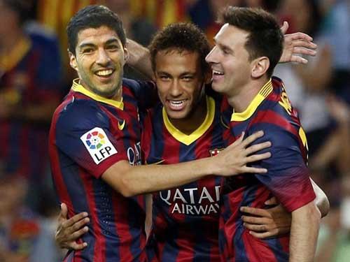 """Bộ ba Messi–Suarez–Neymar """"bách chiến thần thánh"""" - 1"""