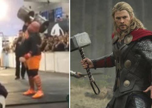 """""""Thần Thor"""" hiện đại 1 tay nâng tạ kỷ lục 140kg - 1"""