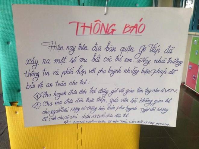 TPHCM: Trường học tự cảnh báo nạn bắt cóc học sinh với phụ huynh - 4