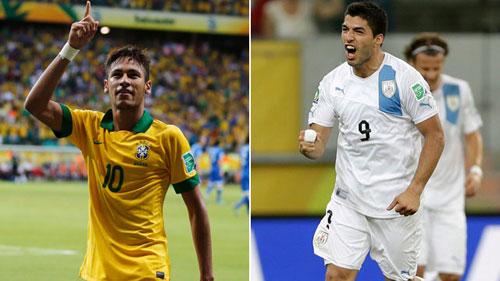 Brazil – Uruguay: Neymar quyết đấu Suarez - 2