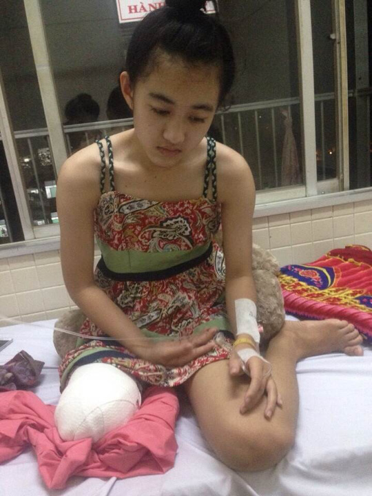 Người nhà nữ sinh bị cưa chân yêu cầu bồi thường 1 tỉ đồng - 1