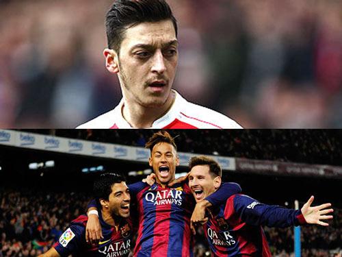 Barca đổi 3 cầu thủ lấy Ozil, fan Arsenal đòi MSN - 1