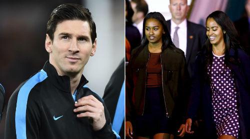"""Messi tổ chức """"hẹn hò"""" ái nữ của tổng thống Obama - 1"""