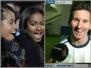 """Bóng đá - Messi tổ chức """"hẹn hò"""" ái nữ của tổng thống Obama"""
