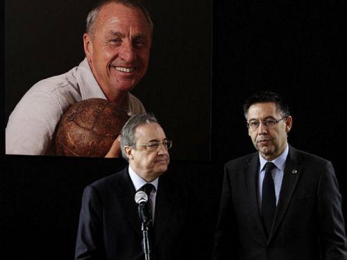 """Chủ tịch Real đích thân đến Nou Camp """"viếng"""" Cruyff - 1"""