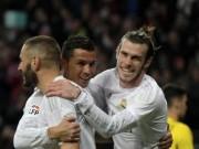Bóng đá - Ronaldo ít ảnh hưởng hơn Bale & Benzema ở Real?