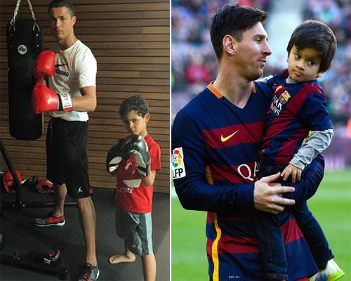Ronaldo - Messi dạy con: Khổ luyện và bản năng - 1