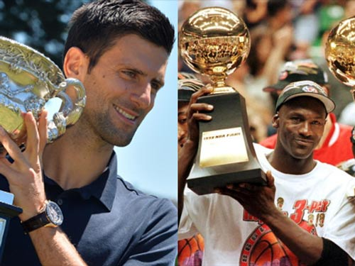 """Djokovic như Michael Jordan, """"kẻ cai trị"""" làng tennis - 1"""