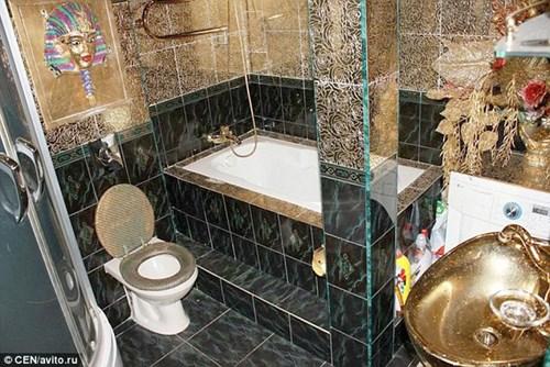 Căn hộ giá 2 tỉ đồng dát vàng từ phòng khách đến toilet - 4