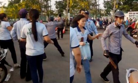 Nữ công nhân bị chém trước cổng công ty - 1
