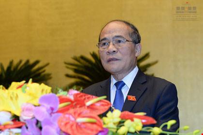 Quốc hội đồng ý miễn nhiệm Chủ tịch Quốc hội Nguyễn Sinh Hùng - 1