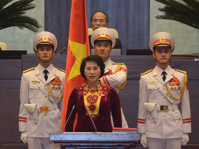 Tân Chủ tịch Quốc Hội Nguyễn Thị Kim Ngân tuyên thề - 1