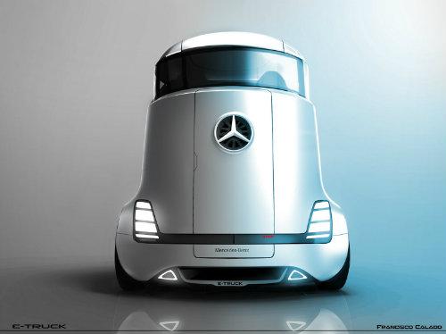 Mercedes-Benz E-Truck thiết kế như vật ngoài hành tinh - 3