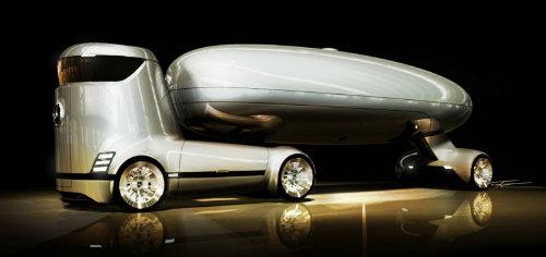 Mercedes-Benz E-Truck thiết kế như vật ngoài hành tinh - 5